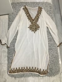 Gorgeous White and Gold Indian Dress  Toronto, M6S
