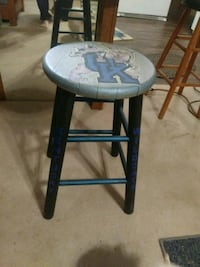 Custom stools all hand-painted any color any logo Louisville