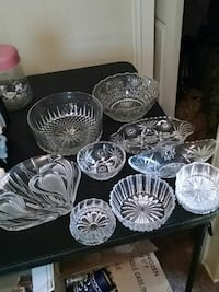 Misc leaded glass dishes