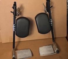 Set of new elevated leg rest for Hoveround mpv5