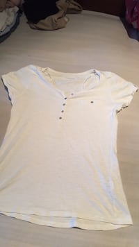 Chemise blanche à manches longues style henley 6227 km