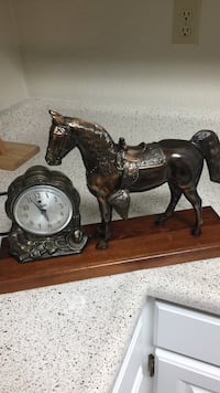 Cowboy antique 1950's horse clock Galter Products Co