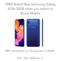 New Samsung Galxy A10e 32GB - Boost Mobile