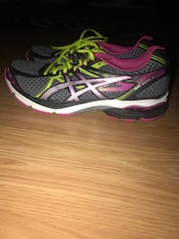 pair of white-black-green-and-pink sneakers Hughesville, 20637