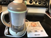 Baby Food Maker, BEABA babycook 4 in 1 Steam Cooker and Blender Fairfax, 22030