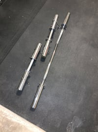 Ez bar and dumbbells handles - no weights included