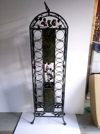Beautiful Wrought iron 18 Wine bottle holder for a fathers day present