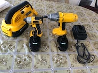 Dewalt 5 piece drill with charger and vacuum