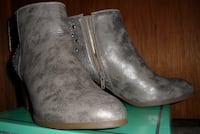 Women's Shoes: Style & Co. Bejeweled Booties Tan/Grey Size 6 Kansas City