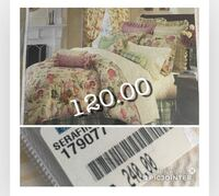 pink and white floral bed sheet set 774 km