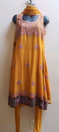 women's yellow and purple floral dress Surrey, V3X 1P3