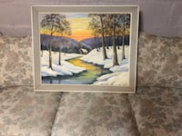 Oil Painting Winter Scene Frederick, 21701
