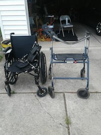 Wheel chair and two walk behind walkers with hand  Detroit, 48227