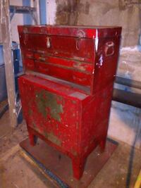 Vintage Red Metal Toolbox and Tool Chest - 2 Piece Bronx, 10465