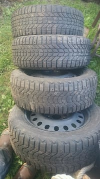 225/55R17 Firestone Winterforce Tires & Steel Rims