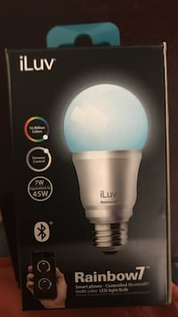 iLuv Rainbow7 smartphone controlled Bluetooth multi-color LED light bulb Union, 07083