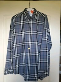 Gray Burberry brit long sleeve button up Large Freehold, 07728