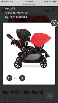Baby's black and red stroller Kenneth City, 33709