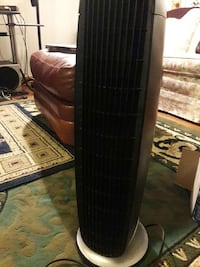 black and gray space heater