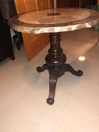 brown wooden base glass top table Harrison, 07029