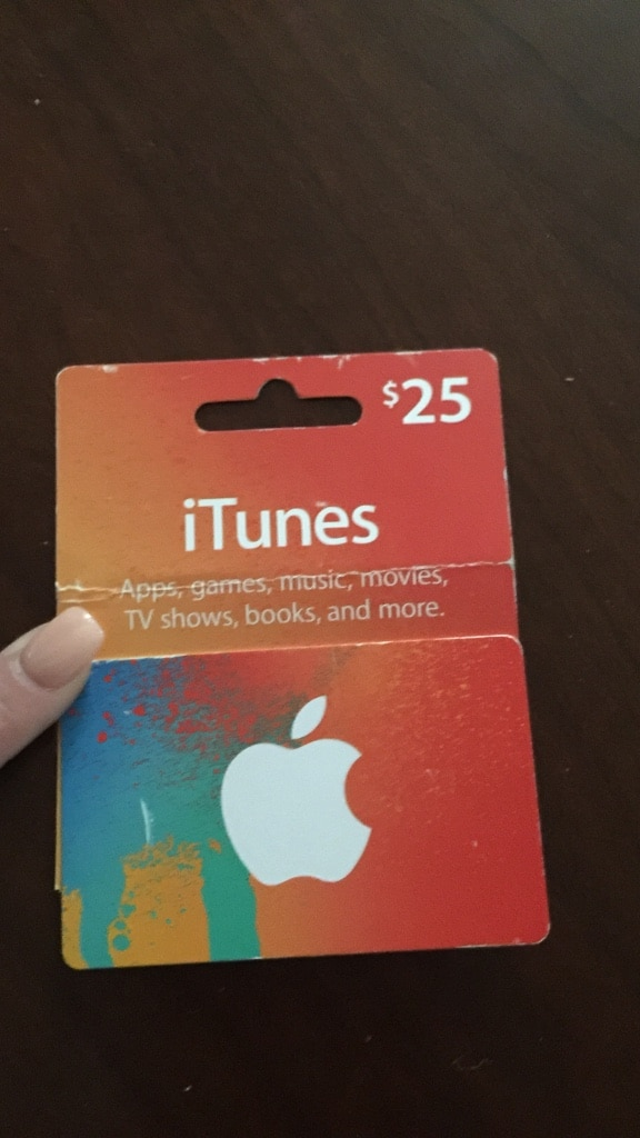 letgo itunes 25 dollar gift card in erie pa. Black Bedroom Furniture Sets. Home Design Ideas