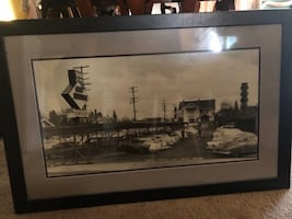 1958 Yaw's Restaurant Certified by OR Historical Society w/ Custom Frame
