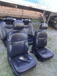 two black leather car seats Frederick, 21704