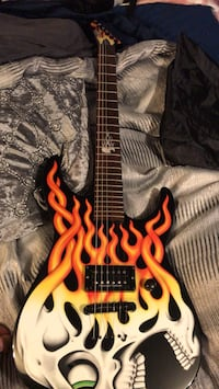 ESP LTD Flaming Skull Guitar Toronto