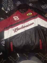 Budweiser # 8 leather jacket Dale Earnhardt Jr Bud West Columbia, 29169