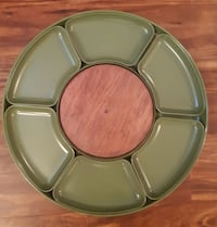"""Vintage 1950s """"Lazy Susan"""" Party Tray - Chips - Peanuts - Candy - Cond"""