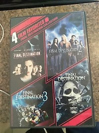 4 Films Favorites Final Destination collection DVD case