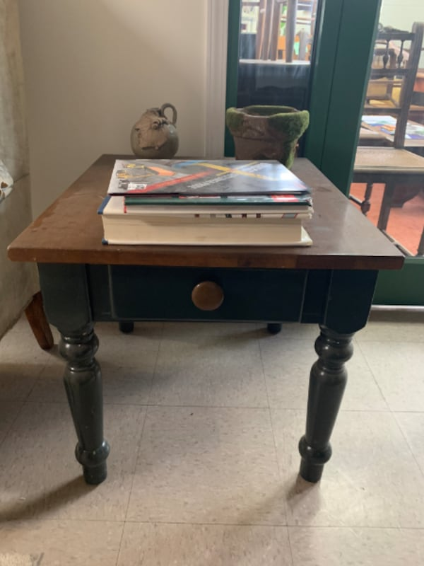 WOODEN SIDE TABLE WITH DRAWER – SPRINGDALE - $80 695beaa8-f946-4a6b-9f2d-94596a6c0f9d