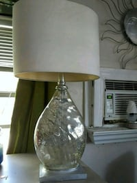 Silver painted glass table lamp Wilton Manors, 33334