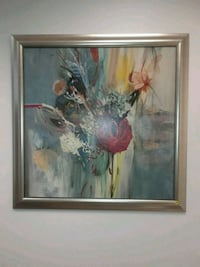 brown wooden framed painting of white petaled flowers Houston, 77024