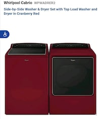 Cabrio Washer and  Elec.Dryer Set