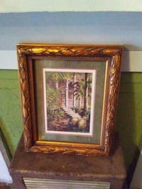 rectangular brown wooden framed white house surrounded by trees painting Lafayette, 70501