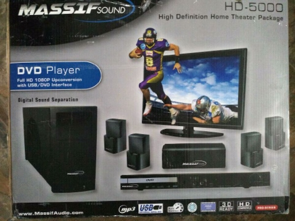 Home entertainment system still in the box