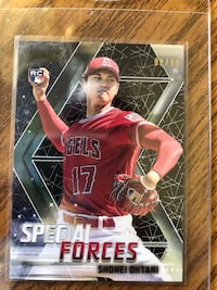 2018 Shohei Ohtani Topps Stadium Club Black Special Forces RC 2/99 Palos Heights, 60463