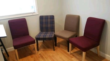 Five Dining Room Chairs Set