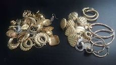 assorted gold accessory lot