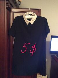 Woman's black and white top size medium. Great condition  Laval, H7X 3M8