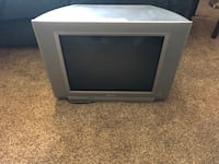 gray CRT TV with remote Corona, 92879