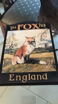Sign for the fox pub England $10  Colts Neck, 07722