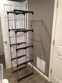 black metal 4-layer rack