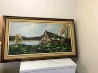 brown wooden framed painting of house Gatineau, J8P 1P1