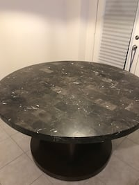 Black and White Round Marble table