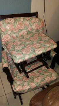 green and white floral padded armchair Kenner, 70062