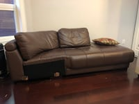 Brown leather sofa Toronto, M6G 2K8