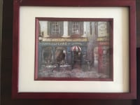 Shakespeare cafe painting with red frame