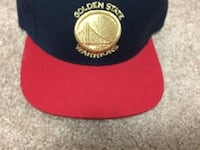 red and black Golden State Warriors cap